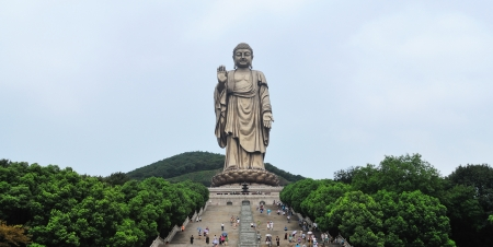 Lingshan Grand Buddha, China Stock Photo