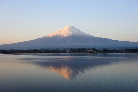 sunrise lake: Mt  Fujiyama, Japan