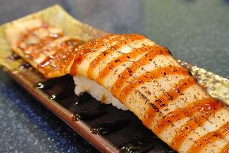 Broiled Eel Sushi, Japanese Cuisine photo