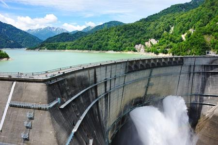 travel japan: Kurobe Dam, Japan Stock Photo