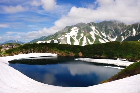chubu: Mikurigaike Pond at Chubu Sangaku National Park, Japan Alp, Japan