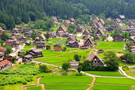 Shirakawago Village, Japan Standard-Bild - 25467716