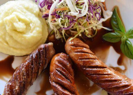 mash: Sausages with Mash Potato