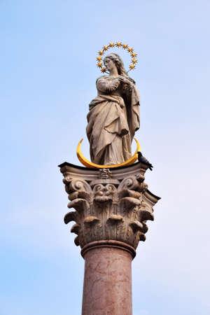 innsbruck: St.Annas Column, Innsbruck Austria Stock Photo
