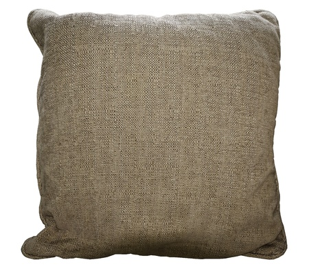 Brown pillow on white isolate