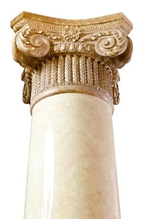 roman column: Roman column  on white background for design  Stock Photo
