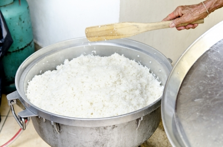 Thail style to make soft-boiled rice   Stock Photo - 21130039