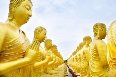 buddha status at temple, Nakhon Nayok, Thailand    photo