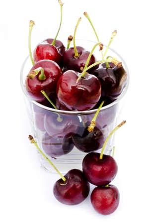 fresh cherry  on white background Stock Photo - 21130063