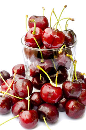 fresh cherry  on white Stock Photo - 21130065