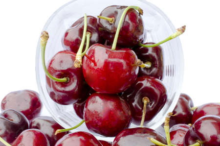 fresh cherry isolated on white Stock Photo - 21130073