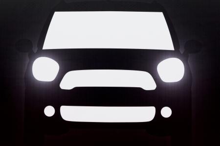 Shadow of car, mini cooper    Editorial