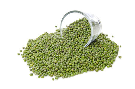 Green bean seed isolate on white background .