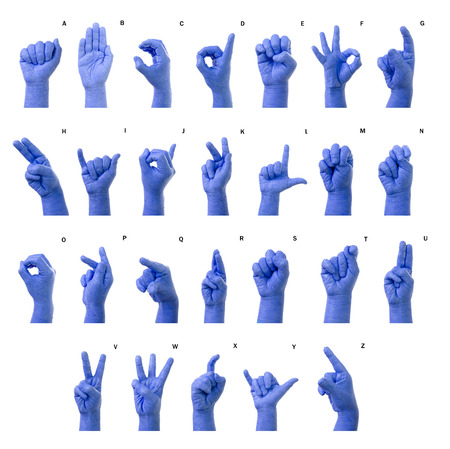 asl sign: Little Finger Spelling the Alphabet in American Sign Language (ASL). The Letter A-Z