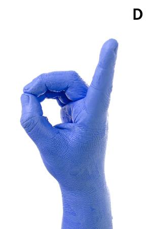 asl: Little Finger Spelling the Alphabet in American Sign Language (ASL). The Letter D