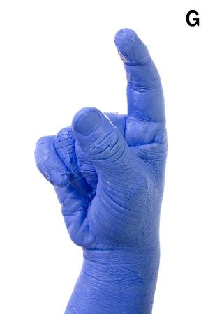 asl: Little Finger Spelling the Alphabet in American Sign Language (ASL). The Letter G