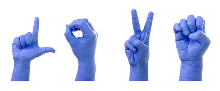 asl sign: Little Finger Spelling the Alphabet in American Sign Language  ASL   word is  LOVE