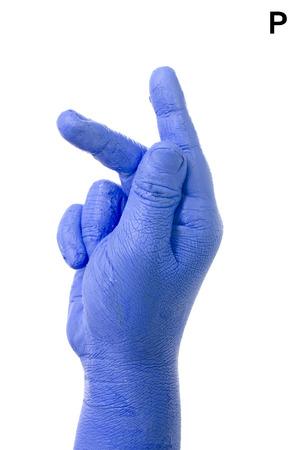asl: Little Finger Spelling the Alphabet in American Sign Language  ASL   The Letter P