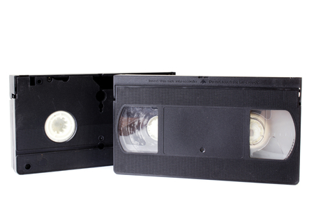 superseded: Old Video Cassette  isolate on white background .  Stock Photo
