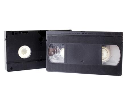 vhs videotape: Old Video Cassette  isolate on white background .  Stock Photo
