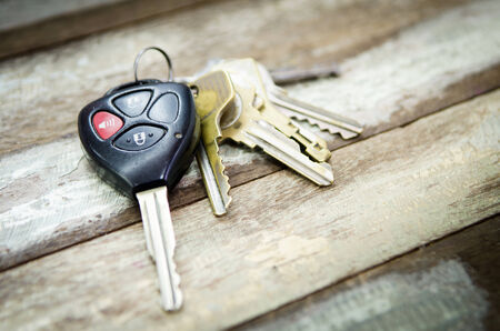 color key: Car Keys on white background , Old and Used .