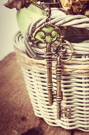Old vintage key ,still life