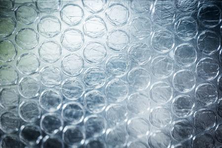 Page grandes claires Bubbles sur du matériel d'emballage de bubblewrap Banque d'images