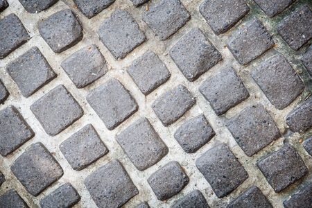 adoquines: Primer plano de piedra adoquines de fondo del suelo Foto de archivo