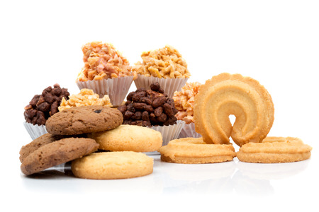 Mixed cookies isolate on white background