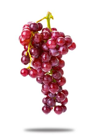red grape isolated on white background Stock Photo