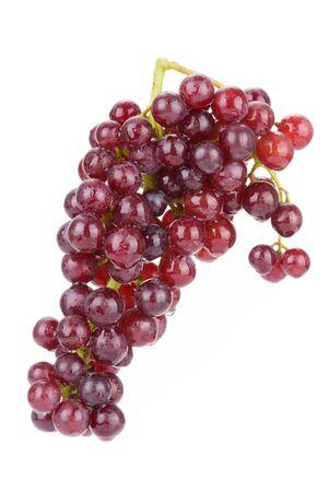red grape wiith water drop solated on white background Stock Photo