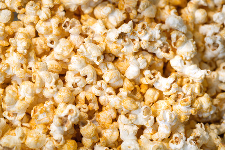 Popcorn, Snacks a background Banque d'images