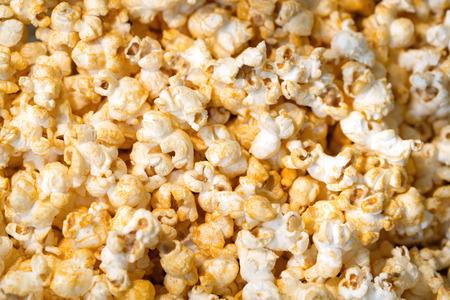 Popcorn, Snacks a background Stock Photo