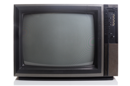 vintage television: Vintage Television with shadow on white background