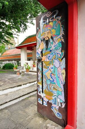 Door Gods is paiting on chinese photo