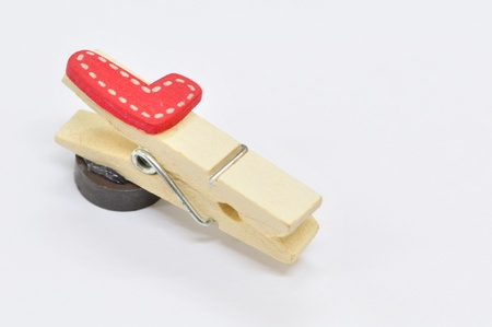 Paper with wooden clip Stock Photo - 9761891