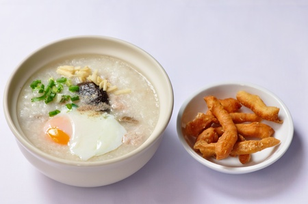 Congee, the traditional Chinese breakfast