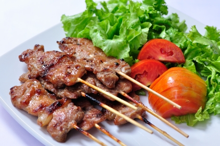 thai pepper: Asian grilled pork, Thai food
