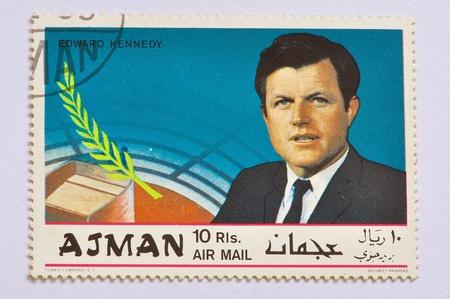 ajman: AJMAN - CIRCA 1968, EDWARD F. KENNEDY, for In Memoriam, series, circa 1968