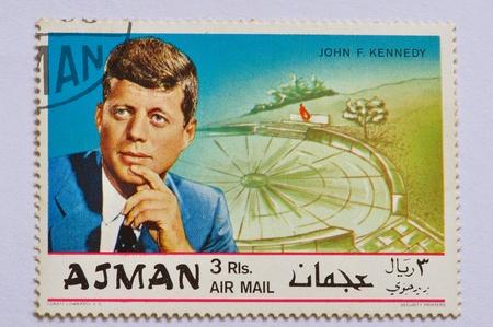 mailed: AJMAN - CIRCA 1968 JOHN F. KENNEDY, A for In Memoriam, series, circa 1968