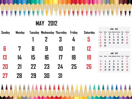 Calendar 2012 May Stock Vector - 11059675
