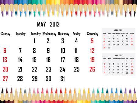 Calendar 2012 May Stock Vector - 11059675