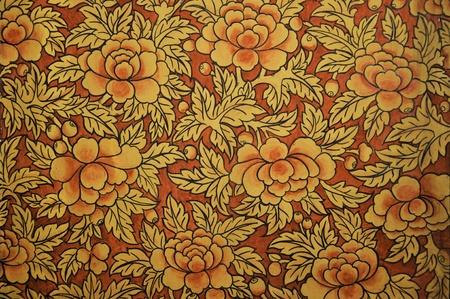 baroque furniture: Retro floral background Stock Photo
