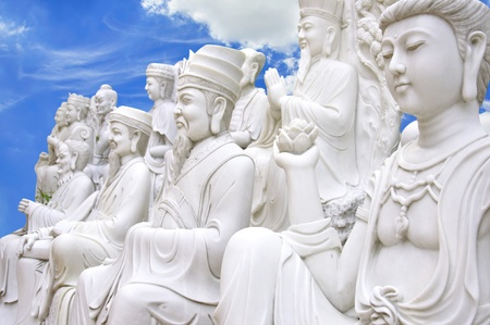 Chinese Buddha on the heaven photo
