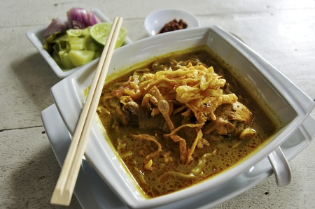 chicken noodle: Traditional Thai Food  Stock Photo