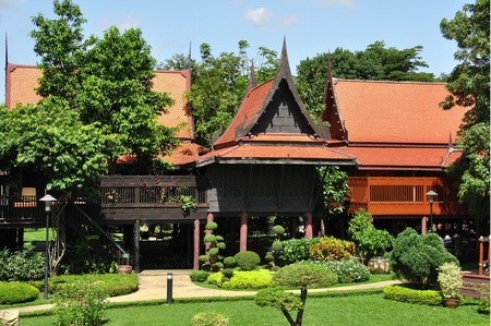 wooden house: Traditional Thai wooden house