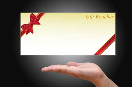 traditional gifts: Gift Card with hand