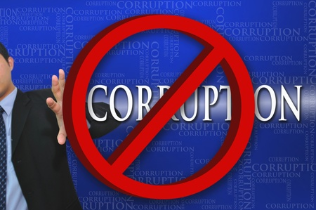 the corruption: Business Corruption Stock Photo