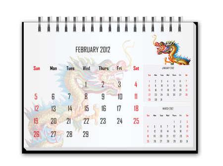 Calendar 2012, February photo