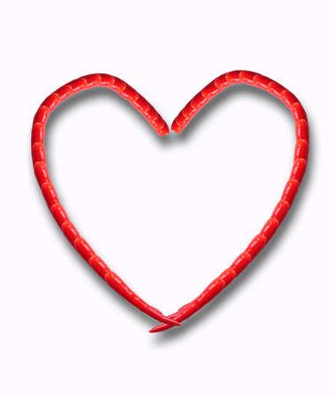 Heart of chili pepper Stock Photo - 11987295